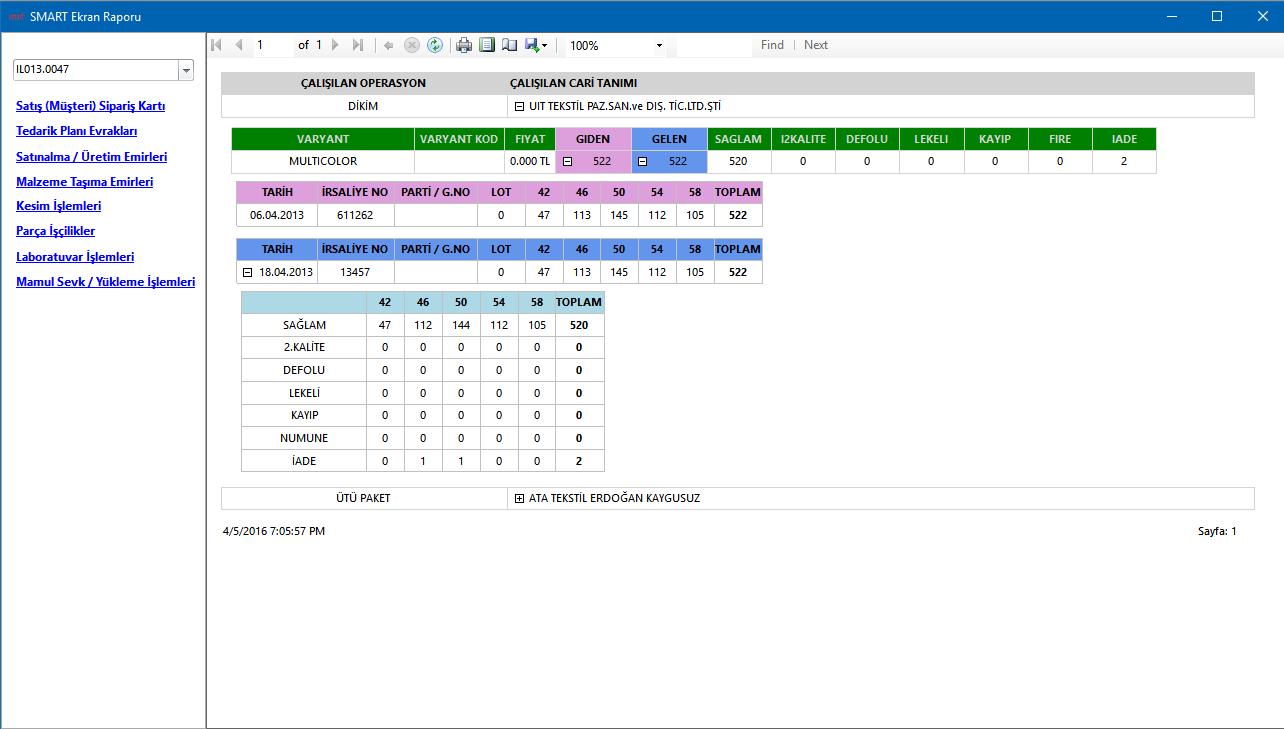 SmartPlus Kurumsal Yönetim Sistemi Raporlama Yönetimi Dosya Durumu